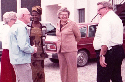 Founders of ACCTS Buck and Louisa Buxton in Africa 1970